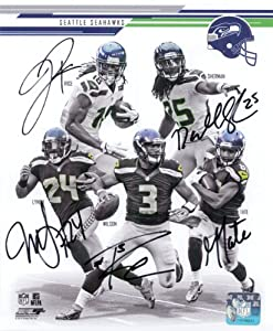 Signed Seahawks, Seattle (2013-14 Super Bowl Champions) 8x10 Photo By Russell Wilson,... by Powers Collectibles
