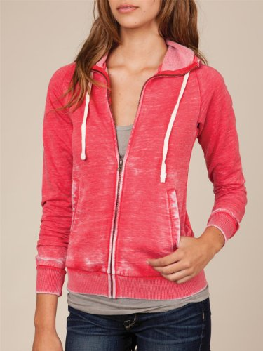 Women's Burnout Fleece Zip Hoodie