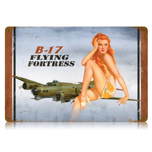 B-17 Flying Fortress Pin Up Sign