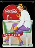 COCA COLA DINER Small Vintage Tin Metal Pub Sign