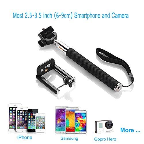 aibocn selfie stick extendable adjustable monopod waterproof telescopic hand. Black Bedroom Furniture Sets. Home Design Ideas
