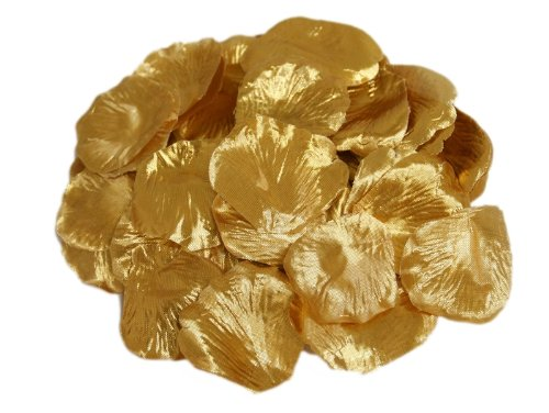 2000 Silk Rose Petals Wedding Decorations Bulk Supplies – Gold