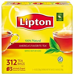 Lipton  Tea, 312Count Tea Bags, 100 % Natural Tea Net Wt 24.9 Oz.