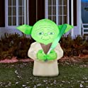 Star Wars 4.5' Tall Big Head Yoda Halloween Airblown