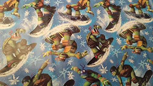 Christmas Wrapping Teenager Mutant Ninja Turtle Leonardo Raphael Holiday Paper Gift Greetings 1 Roll Design Festive Wrap TMNT