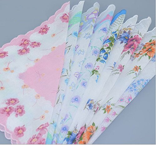 Uniquezone Vintage Floral Handkerchief Wendding Party Fabric Hanky 2