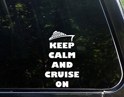 Keep-Calm-And-Cruise-On-3-34x-6-12-Vinyl-Die-Cut-Decal-Bumper-Sticker-For-Windows-Trucks-Cars-Laptops-Macbooks-Etc