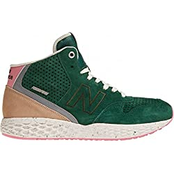 New Balance Fresh Foam Mid-Cut Men's Shoes - Green/Pink