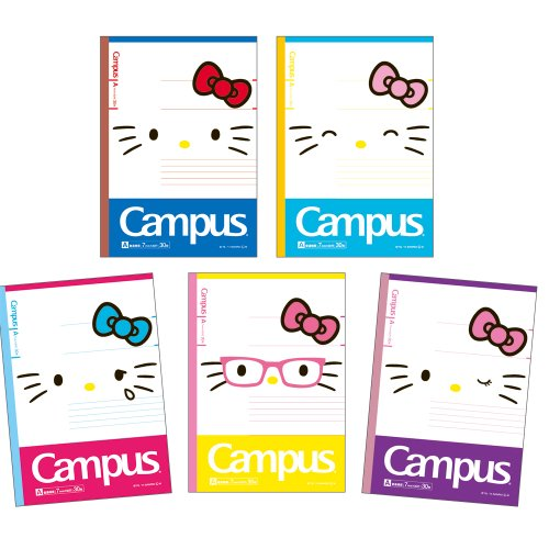 [Hello Kitty] Campus a Ruled Notebook / 5 Books Pack ★ Campus ★