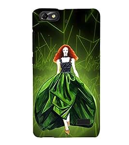 Beautiful Princess Cute Fashion 3D Hard Polycarbonate Designer Back Case Cover for Huawei Honor 4C :: Huawei G Play Mini