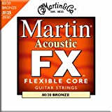 Martin FX Flexible Core 80/20 Bronze Acoustic Guitar Strings - Zinc Flashed Inner Core (Light / Medium, .0125 - .055)