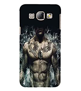 PrintVisa Cool Boy Tattoo 3D Hard Polycarbonate Designer Back Case Cover for Samsung Galaxy A8