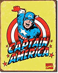 Captain America Distressed Retro Vintage Tin Sign