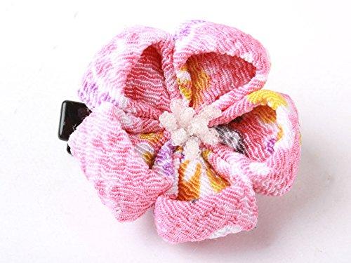 和風 梅花柄 ヘアピン 和装 髪飾り#ピンク