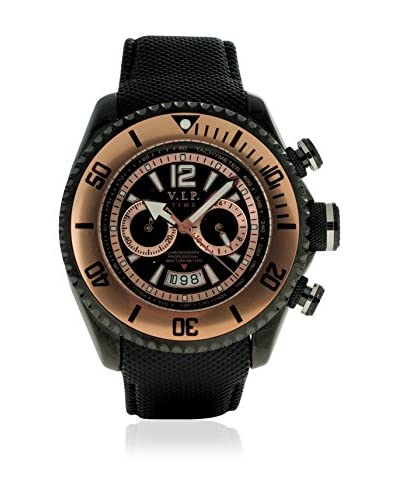 Vip Time Italy Reloj con movimiento cuarzo japonés VP5009BK_BK Negro 50  mm