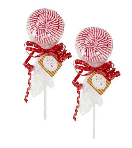 The Baby Bunch Lollipop Bodysuits Set - Red/White, 0-6 Months