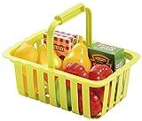 Smoby Ecoiffier - Cesta de la compra (incluye alimentos de juguete), color verde