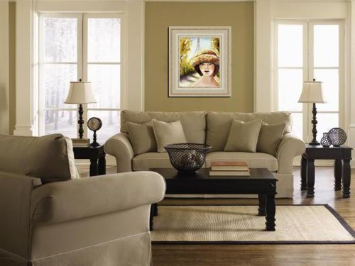 """001000 Contemporary Canvas Wall Art – REGISTERED Authentic Artwork """"Afternoon in Paris"""" by Lena Kashigin, Artist Hand finished and signed canvas artwork, 14×18, Ready to hang Canvas Wall Art"""