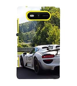EPICCASE Sporting car Mobile Back Case Cover For Nokia Lumia 820 (Designer Case)