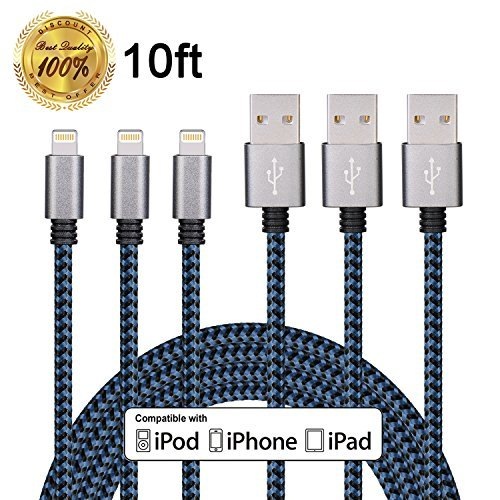 winage-3pack-10ft-ultra-long-nylon-braided-charging-cable-usb-cord-charger-compatible-with-iphone-7-