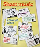 img - for Sheet Music Magazine June/July 1987, Volume 11 No.5. Hits Through the Years Issue....Easy Organ Edition book / textbook / text book