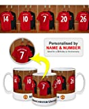 Manchester United FC Personalised Mug - Football Gifts -PLEASE LEAVE PERSONALISATION DETAILS AT THE GIFT MESSAGE OF THE AMAZON CHECKOUT WHEN ORDERING OR SEND AMAZON MESSAGE WITH DETAILS AFTER ORDERING