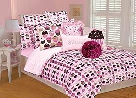 Popular Thro Ltd Cupcakes Full Queen Comforter Set Pink Brown Cupcake Bedding