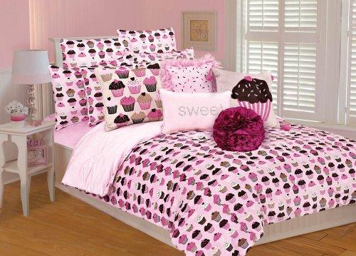 Thro Ltd. Cupcakes Comforter Set, Pink/Brown