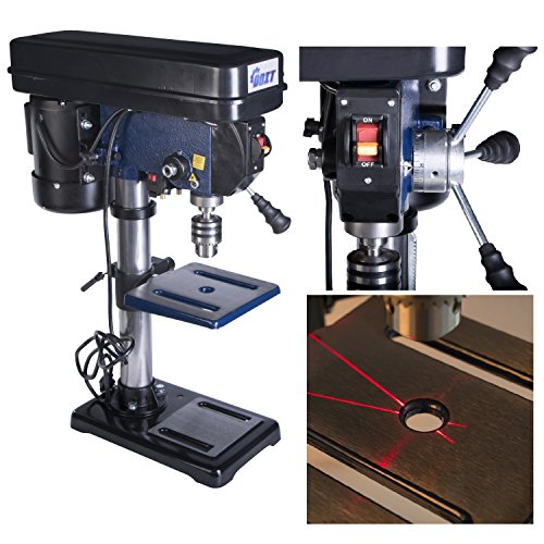 Ainfox 120V 350W 10-Inch 12 Speed Benchtop Drill Press with Laser (10-Inch 12 Speed) (Mini Bench Drill Press compare prices)