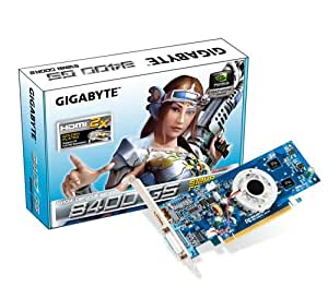 GIGABYTE GeForce 8400 GS 512MB GDDR2 PCI Express 2.0 DVI-I / HDMI / D-Sub Graphics Card, GV-N84S-512I