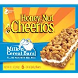 Cheerios Honey Nut , Milk 'n Cereal Bars, 6-Count Boxes (Pack Of 10)