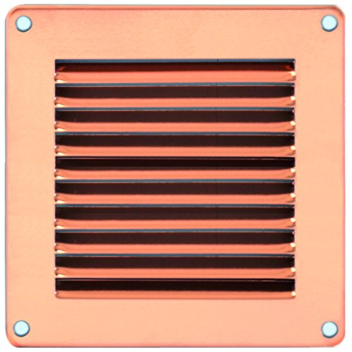 La Ventilazione 27676-24 Gra20R Griglie Aerazione Rame con Rete Rettangolare, 240x140 mm