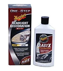 Meguiars Professional Headlight Restoration Kit - Comes with Extra 10 Ounce Bottle of Plastx Plastic Cleaner and Polish by Meguiars