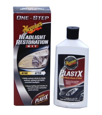 Meguiars Professional Headlight Restoration Kit - Comes with Extra 10 Ounce Bottle of Plastx Plastic Cleaner and Polish