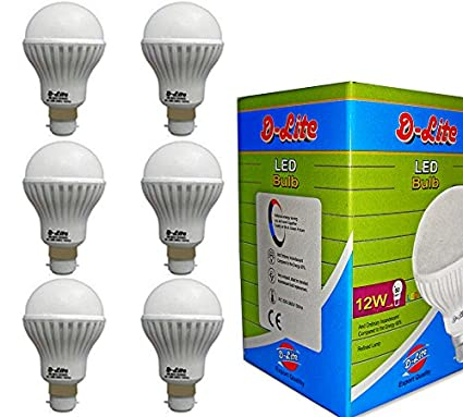 12W-Plastic-LED-Bulb-(Cool-Day-Light,-Pack-Of-6)