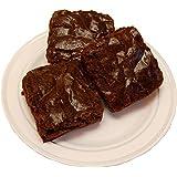 Fake Chocolate Brownie 3 Piece on Plate