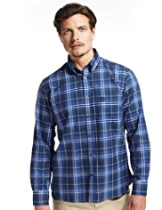 Blue Harbour Supersoft Pure Cotton Bold Grid Checked Shirt