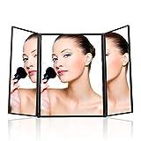 UVISTAR Kosmetikspiegel mit 8-LEDs Beleuchtung / Faltbare...