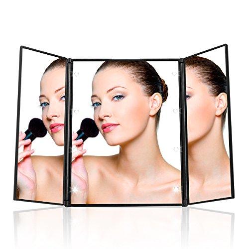 uvistar kosmetikspiegel mit 8 leds beleuchtung faltbare beleuchtet schminkspiegel. Black Bedroom Furniture Sets. Home Design Ideas