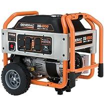 Big Sale Generac 5844 XG4000 4,000 Watt 220cc OHVI Gas Powered Portable Generator with Wheel Kit (CARB Compliant)