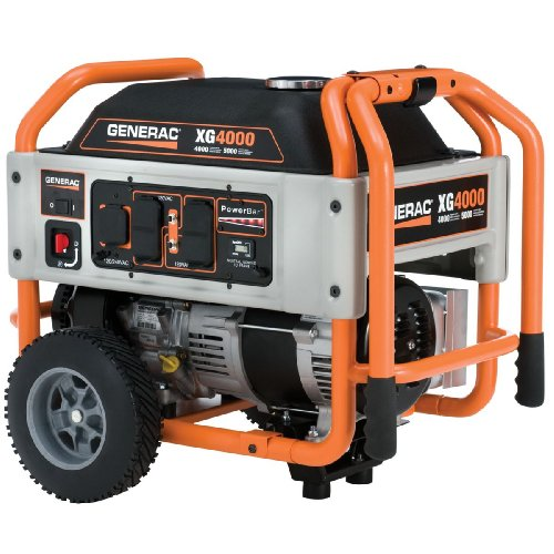 Generac 5844 xg4000 4 000 watt 220cc ohvi gas powered portable generator with wheel kit carb - Choosing a gasoline powered generator ...