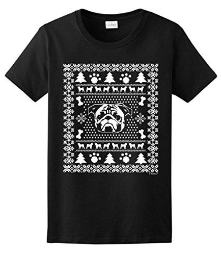 Pug Ugly Christmas Sweater Ladies T-Shirt Xxx-Large Black