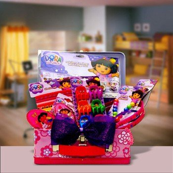Dora The Explorer Gift Baskets for Kids Great Birthday, Get well, Holiday Gift for boys and girls under 10