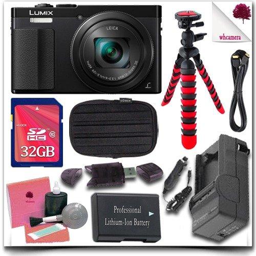 Фото - Panasonic Lumix DMC-ZS50 Digital Camera (Black) + 32GB SDHC Class 10 Card + Soft Camera Case + 12 Flexible Tripod + HDMI Cable 11pc Panasonic saver Bundle micro camera compact telephoto camera bag black olive