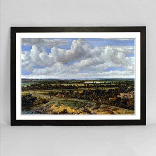 framed-art-poster-print-a2-black-245-x-18-62-x-45-cm-philip-de-koninck-landscape-choice-of-frame-col