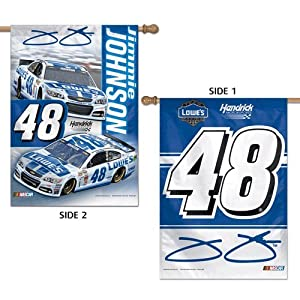 NASCAR #48 Jimmie Johnson House Flag 2 Sided Vertical Banner 2014 by WinCraft