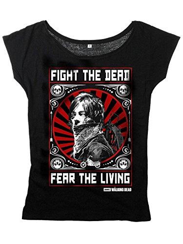 The Walking Dead Daryl Dixon - Fight Maglia donna nero M