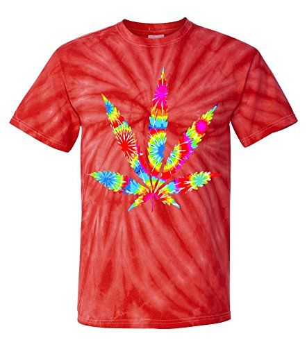 Tie-Dye: Colorful Dyed Weed Symbol T-Shirt