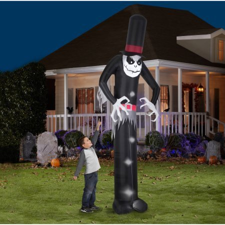 [Gemmy Airblown Inflatable 12' X 4' Giant Skelton Halloween Decoration] (Poseidon Greek God Costume)