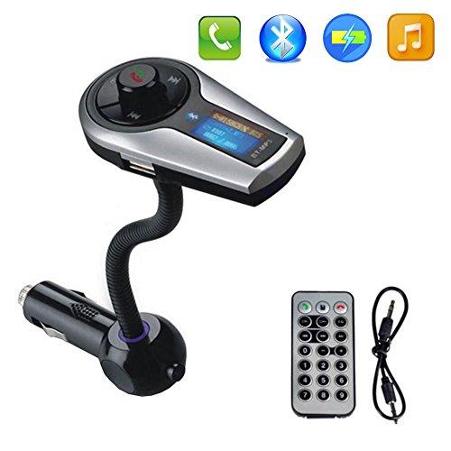 PUPUG Bluetooth Wireless In-Car FM Transmitter with USB Char